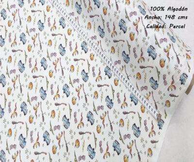 L30-harry-potter-coche-superheroes-americano-tejidos-algodón-estampado-percal,telas con estampados originales con licencia,Tejido Estampado Harry Potter Coche