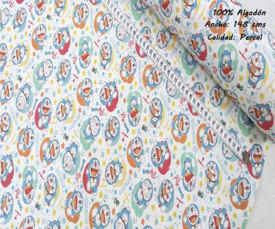 L44-doraimon-risas-superheroes-americano-tejidos-algodón-estampado-percal,estampados originales con licencia,ejido Estampado Doraemon Fly