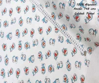 L45-doraimon-superheroes-americano-tejidos-algodón-estampado-percal,estampados originales con licencia,Tejido Estampado Doraemon