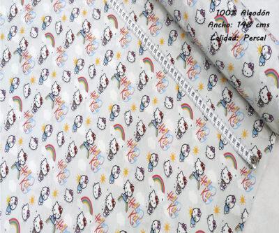 L49-hello-kitty-sol-superheroes-americano-tejidos-algodón-estampado-percal,L48-hello-kitty-arcoiris-superheroes-americano-tejidos-algodón-estampado-percal,estampados originales con licencia,Tejido Estampado Hello Kitty Sol