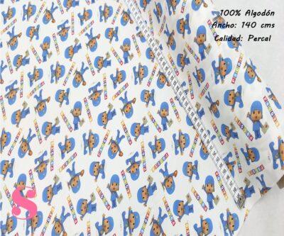 L5-pocoyo-pintura-americano-tejidos-algodón-estampado-percal,Tejido Estampado Pocoyó School