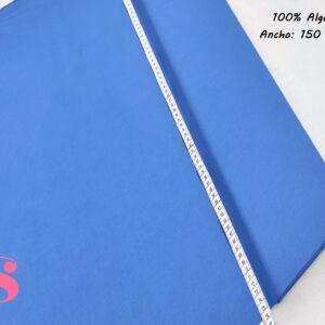 Tejido Algodon 100% Satinado Color Azul Eléctrico