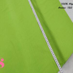 Tejido Algodón Satinado 100% Liso Color Verde Pistacho