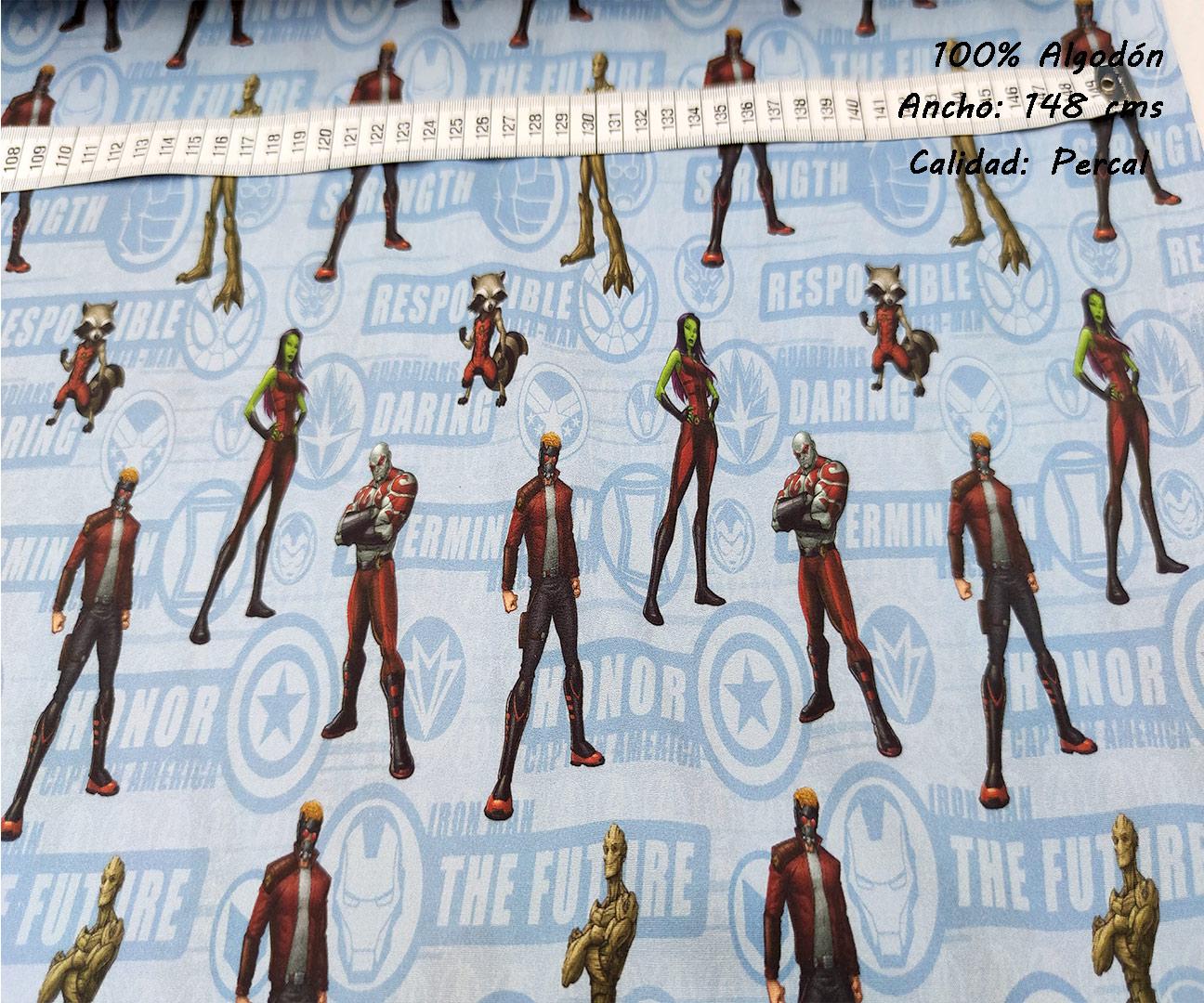 L43-marvel-future-superheroes-americano-tejidos-algodón-estampado-percal,Tejido Estampado Marvel Guardianes de la Galaxia