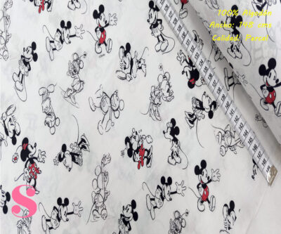 466-mickey-y-minnie-mouse-disney-tejidos-algodón-estampado-percal,Tejido Estampado Mickey y Minnie Boceto