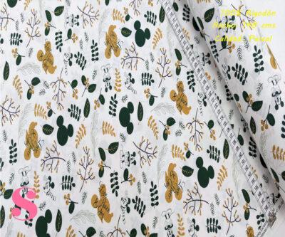 470-mickey-mouse-otoño-disney-tejidos-algodón-estampado-percal,Tejido Estampado Mickey y Minnie Otoño