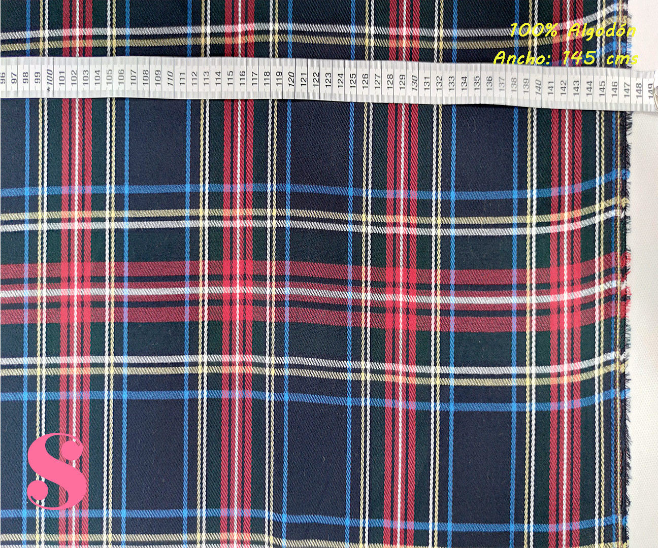 489-cuadros-colegio-tejidos-algodón-estampado-percal,Tejido Estampado Cuadros Colegial Azul Marino