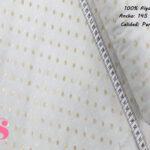 498-lunares-dorado-fondo-blanco-navidad-tejidos-algodón-estampado-percal,Plumeti Lunar Dorado