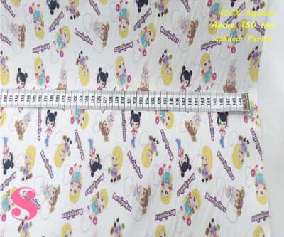 L52-muñecas-barriguitas-fondo-blanco--tejidos-algodón-estampado-percal,Tejido Estampado Muñecas Barriguitas Fondo Blanco