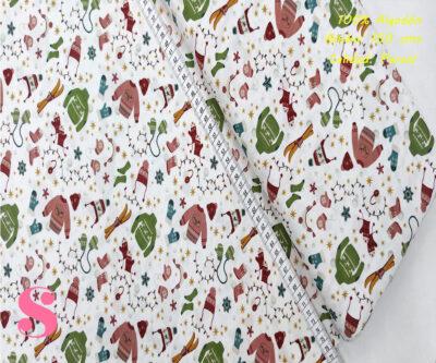 N2-ropa-otoño-invierno-navidad-frio-friki--tejidos-algodón-estampado-percal,Tejido Estampado Ropa Navideña