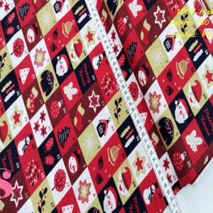 N5 Tejido Estampado PatchWork Motivos Navidad Papa Noel