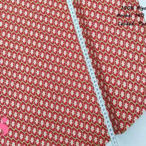 N7 Tejido Estampado Motivos de Navidad Estrella fondo Rojo