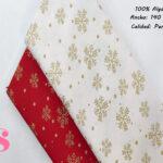 copos-dorados-fondo-blanco-navidad-papa-noel-otoño-cenas-manteleria-decoracion-tejidos-algodón-estampado-percal,Tejido Estampado Copos de Nieve Dorados fondo Crudo