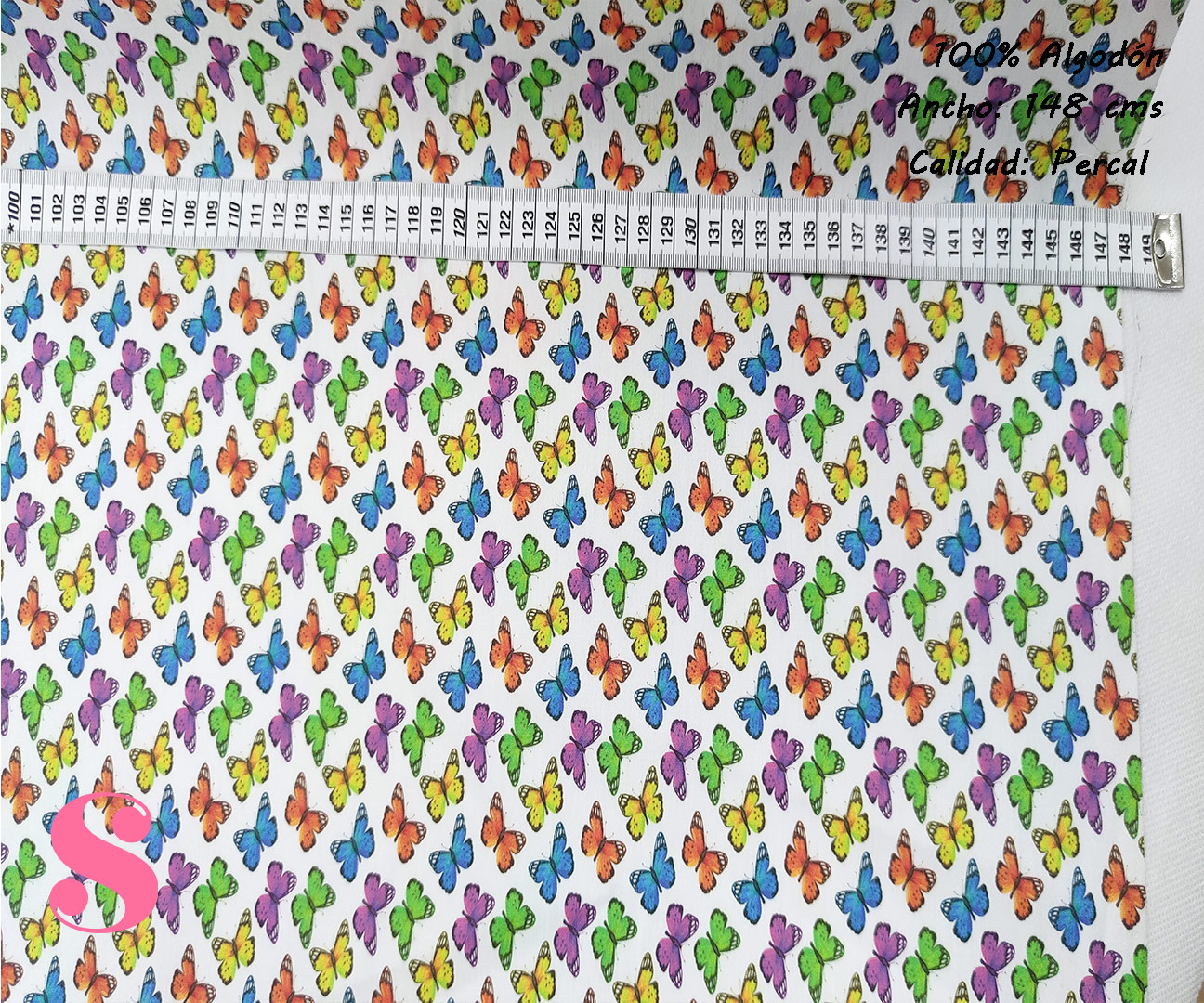 mariposas-colorines-tejidos-algodón-estampado-percal,Tejido Estampado Mariposas