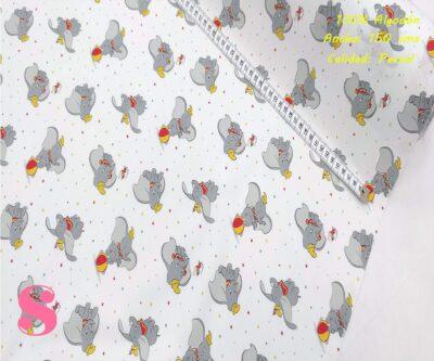 567-elefante-dumbo-tejidos-algodón-estampado-percal,Tejido Estampado Dumbo