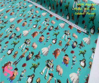 571-toy-story-personajes-tejidos-algodón-estampado-percal,Tejido Estampado Toy Story Amigos