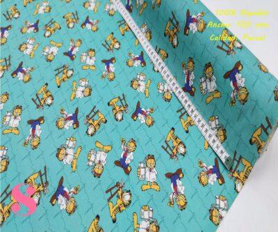 572-gato-garfield-tejidos-algodón-estampado-percal,Tejido Estampado Gato Garfield