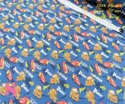 577-cars-carrera-tejidos-algodón-estampado-percal,Tejido Estampado Cars Rayo Mcqueen & Mate