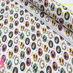 578 Tejido Estampado Perros Stikers