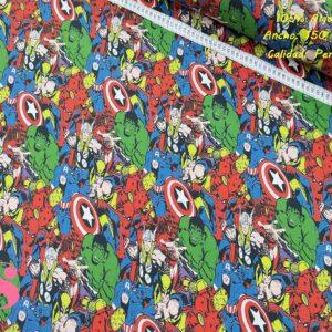 581 Tejido Estampado Personajes Marvel Superhéroes