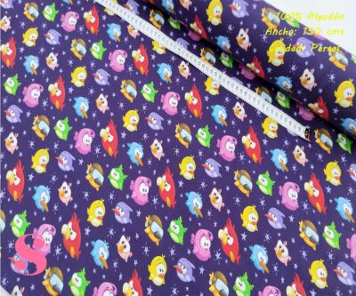 583-angry-birds-tejidos-algodón-estampado-percal,telas infantiles,tejidos con estampados infantiles de moda,Tejido Estampado Angry Birds