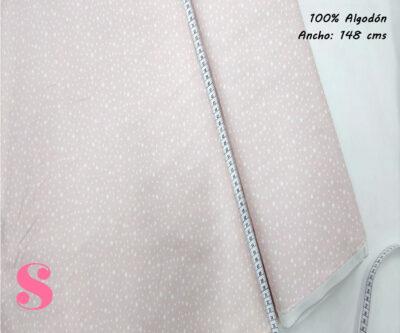 E10-estrellitas-fondo-rosa-tejidos-algodón-estampado-popelin,Tejido Estampado Estrellitas Fondo Rosa Bebé