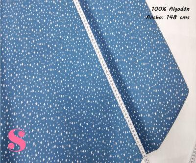 E6-estrellitas-fondo-azul-oscuro-tejidos-algodón-estampado-popelin,Tejido Estampado Estrellitas Fondo Azul Petróleo