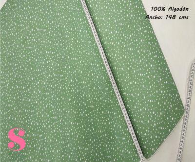 E8-estrellitas-fondo-verde-tejidos-algodón-estampado-popelin,Tejido Estampado Estrellitas Fondo Verde