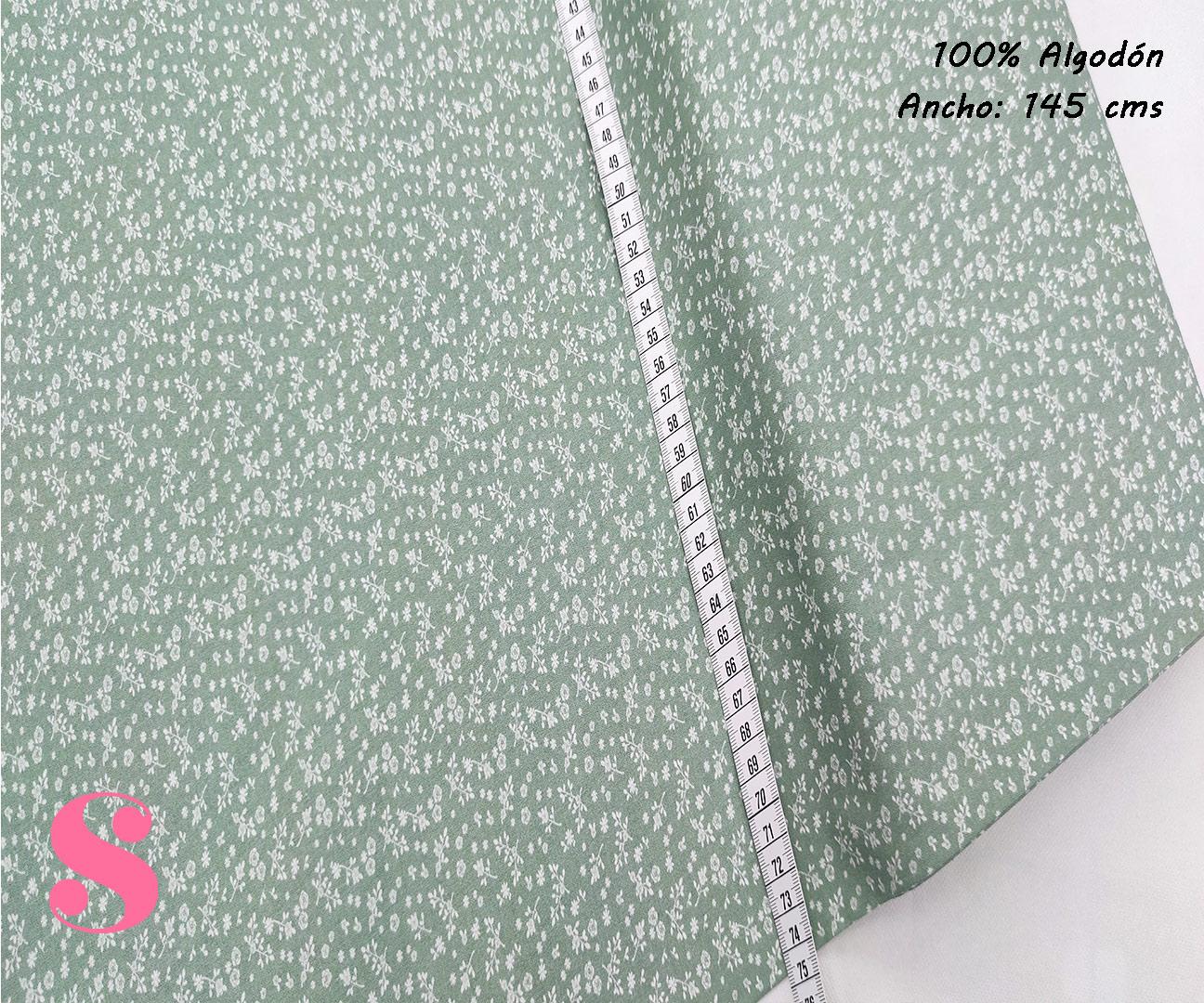 F18-florecitas-liberty-tonos-verde-mujer-tejidos-algodón-estampado-popelin,Tejido Estampado Florecitas Liberty Fondo Verde E4