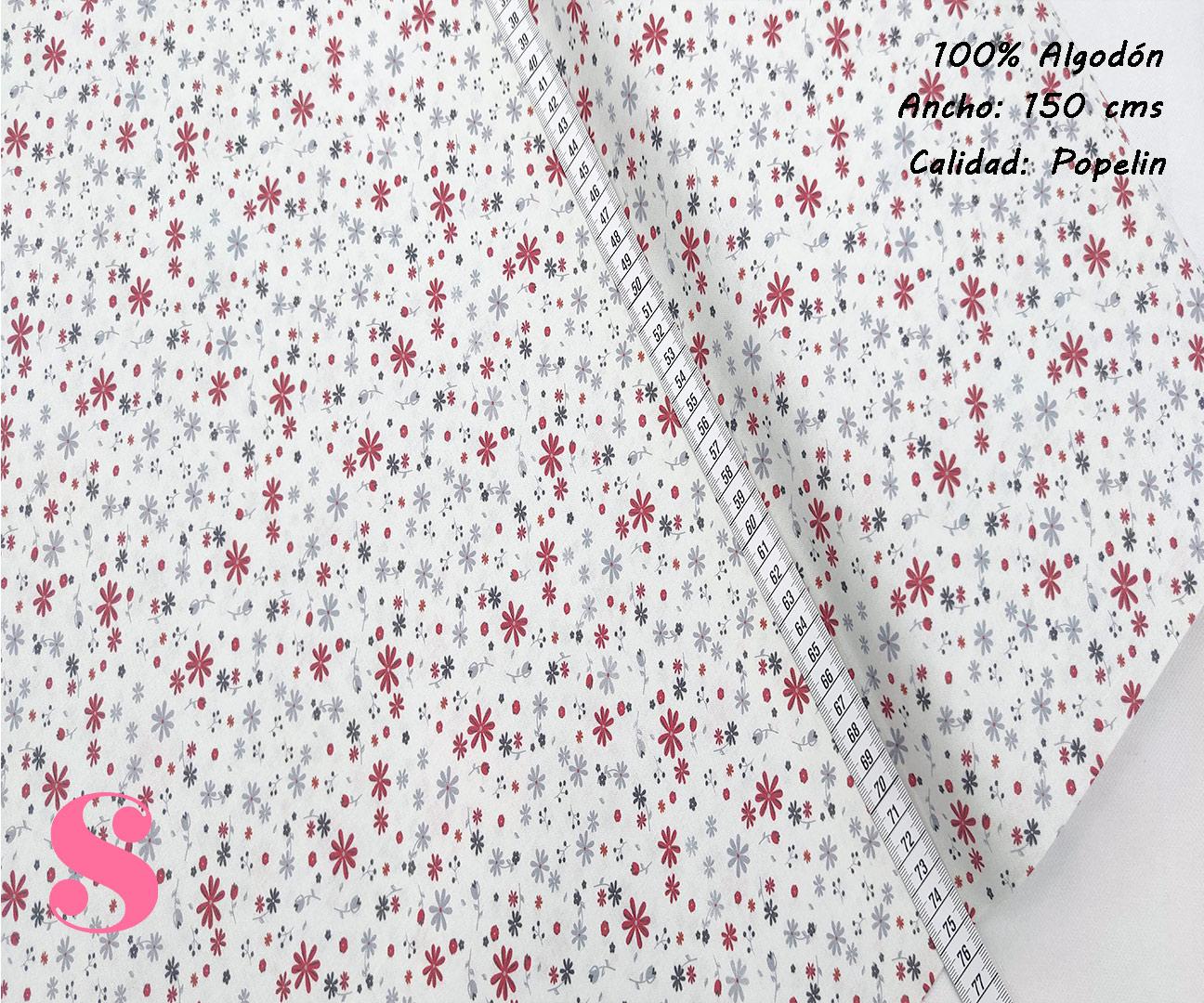 F2-florecitas-liberty-tono teja mujer-tejidos-algodón-estampado-popelin,Tejido Estampado Florecitas Liberty Teja E3