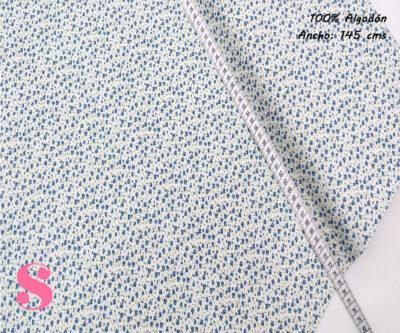 F22-rosas-liberty-fondo-azul-mujer-tejidos-algodón-estampado-popelin,Tejido Estampado Florecitas Liberty Azul E1