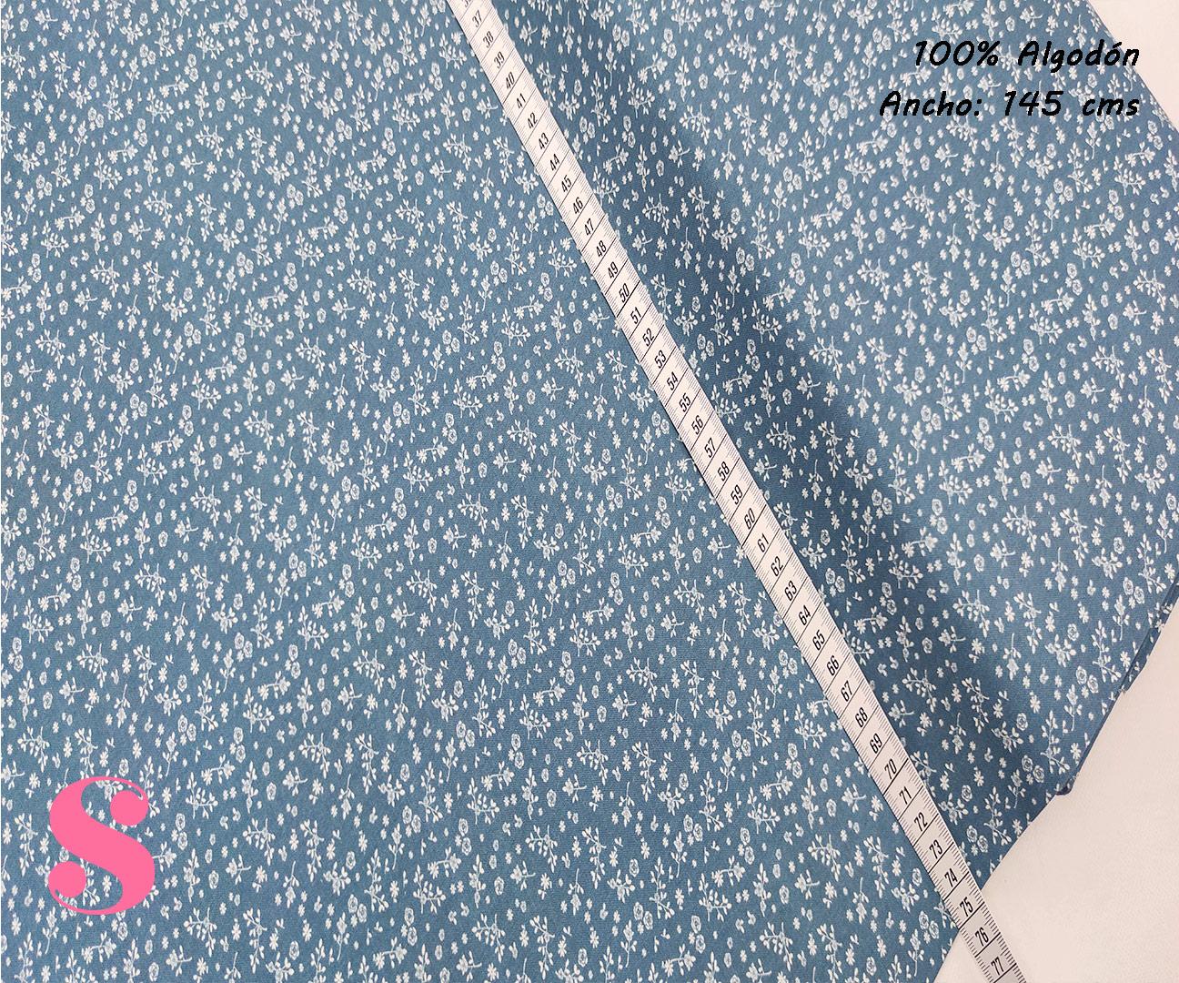 F23-florecitas-liberty-tono-azul-mujer-tejidos-algodón-estampado-popelin,Tejido Estampado Florecitas Liberty Fondo Azul E4