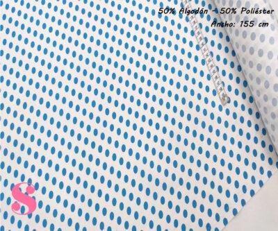 F4-lunar-flamenco-mediano-azul-fondo-blanco,Tejido Estampado Lunar Flamenco Mediano Azul fondo Blanco
