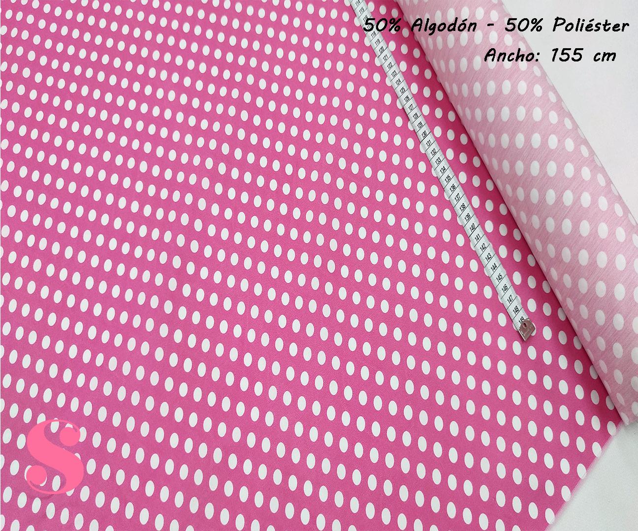 F7-lunar-flamenco-mediano-blanco-fondo-rosa,Tejido Estampado Lunar Flamenco Mediano Blanco fondo Fucsia
