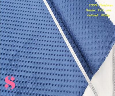 M3-azul-marino-minky-poliester-Tela-scrapbooking-Tela-de-pelo-relieve-puntos,Minky Azul Marino
