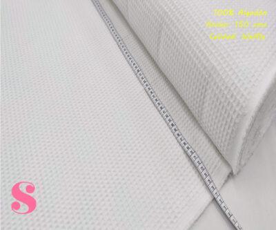 W2-waffle-tela-toalla-relieve-cuadros-gofre-algodon,Wafel Cuadrados Blanco