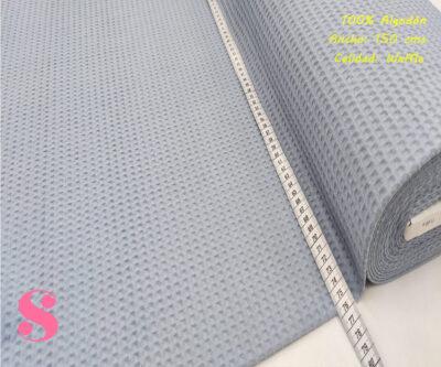 W9-waffle-tela-invierno-toalla-relieve-cuadros-gofre-algodon,Wafel Cuadrados Celeste