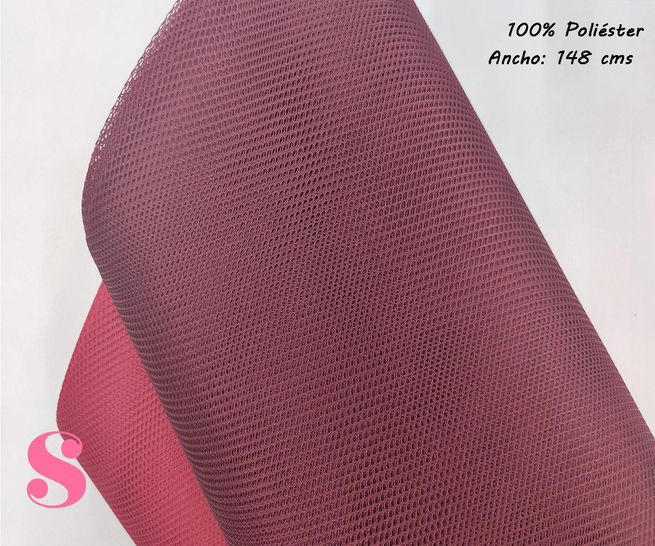 R4-granate-tela-de-rejlla-malla-poliester-facilidad-de-coser,Tela Mesh de Rejilla Rojo