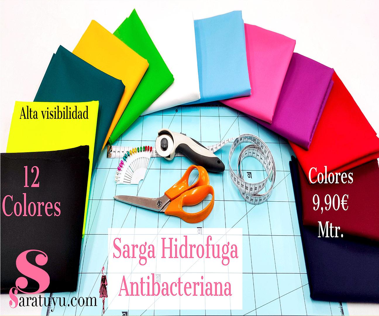 sarga-azul-celeste-hidrofuga-antibacteriana-homologada-certificada-poliester-algodon,Sarga Hidrófuga Antibacteriana Celeste