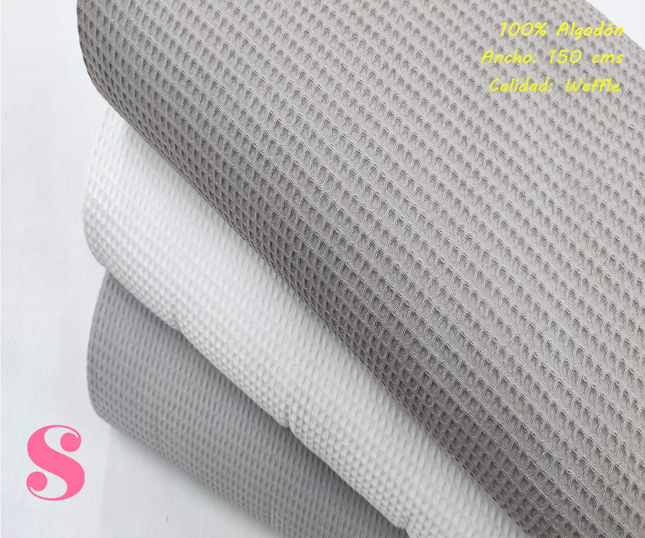 W1-waffle-tela-toalla-relieve-cuadros-gofre-algodon,Wafel Cuadrados Taupe