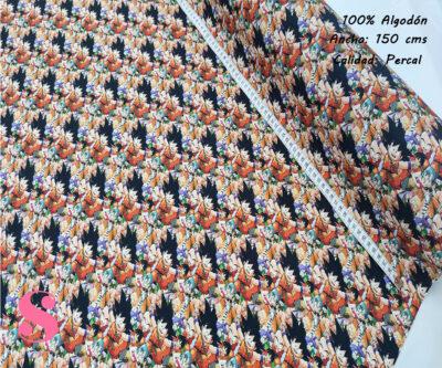600-goku-bola-de-dragon-tejidos-algodón-estampado-percal,telas frikis,estampados frikis,Tejido Estampado Bola de Dragón Goku