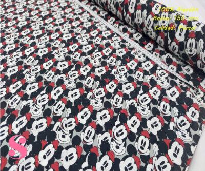 602-mickey-mouse-disney-caras-tejidos-algodón-estampado-percal,telas disney,estampados disney,Tejido Estampado Caras Mickey Mouse