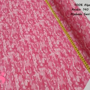 Estampado Hidrófugo Antibacteriano Camuflaje Rosa
