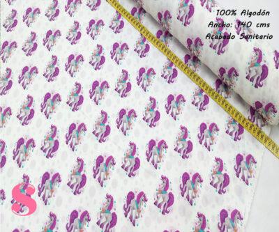 H14-unicornio-elegante-acabado-sanitario-hidrofugado-tejidos-algodón-estampado-percal,tejidos con acabado sanitario,telas con certificadoaitex,Estampado Hidrófugo Antibacteriano Unicornio