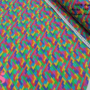 Estampado Hidrófugo Antibacteriano Tetris