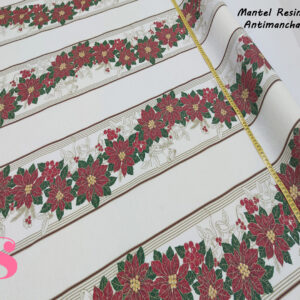 Mantel Resinado Antimanchas Navidad fondo Blanco