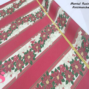 Mantel Resinado Antimanchas Navidad fondo Rojo