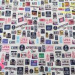 614-matriculas-tejidos-algodón-estampado-percal,telas frikis,Tejido Estampado Matrículas Americanas