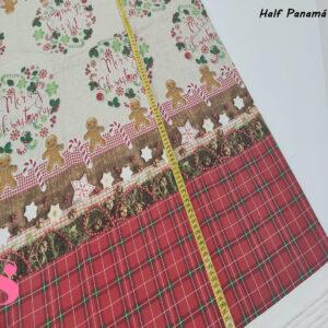 625 Mantel de Navidad Half Panamá Estampado Dulces Navideños