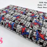 598-spiderman-pared-patch-americano-otoño-invierno-tejidos-algodón-estampado-percal,telas super héroes,telas frikis,Tejido Estampado Spiderman Pared Patch Americano